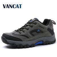Vancat бренд большой Размеры; большие размеры 39-47 (Европа); элегантные Мужская обувь удобные Водонепроницаемый повседневная обувь для отдыха н...