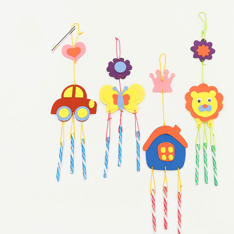 1PCS New Baby Arts & Crafts, DIY Toys Handmade Wind Chimes Wall Hanging Craft Gift Craft Toys For Wall Hanging Car Home Decor