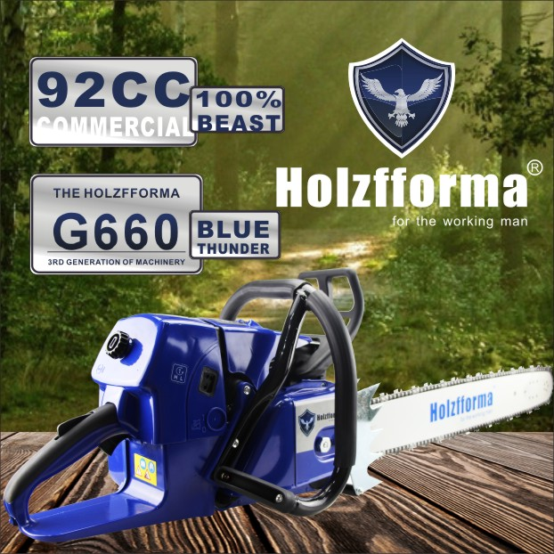 US $343 0 |Farmertec Holzfforma G660 MS660 066 Gasoline Chain saw Chainsaw  92CC Luxury Wrap Handle Bar With 25inch guide bar and saw chain-in