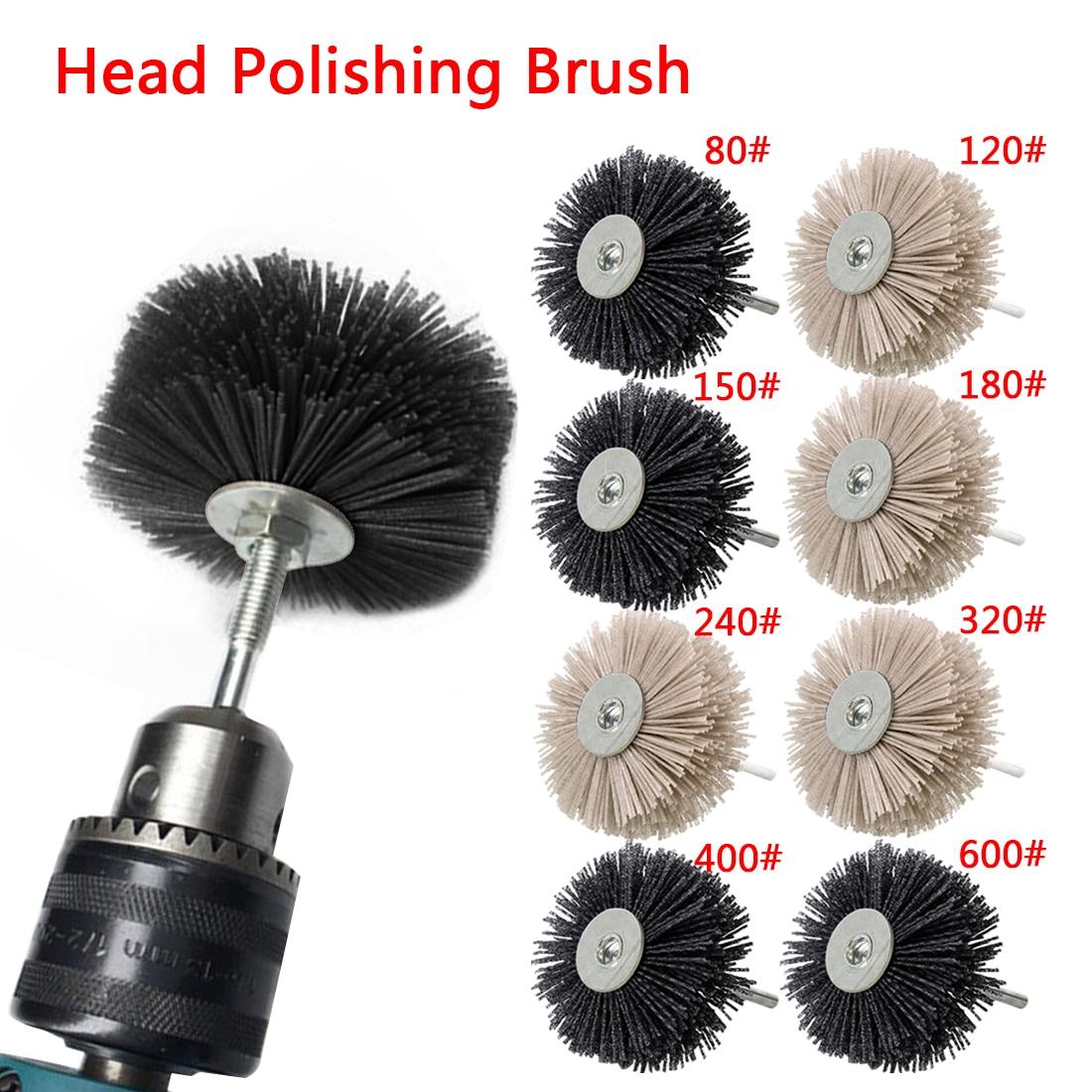 Abrasive Wire Grinding Flower Head Abrasive Nylon Wheel Brush Woodwork Polishing Brush Bench Grinder