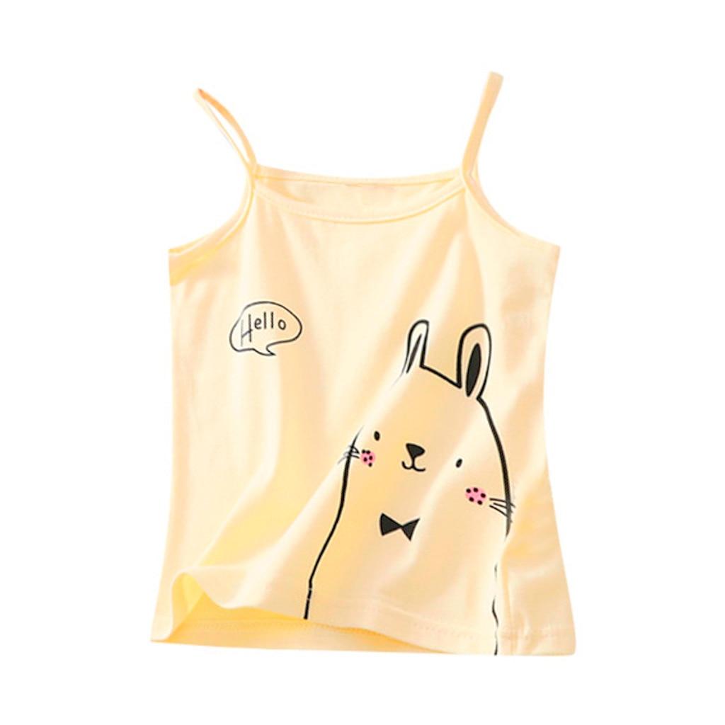 T-shirt sous-vêtements hauts vêtements enfants fille sans manches couleur bonbon gilet MM520