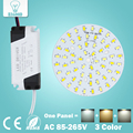 3W 5W 7W 9W 12W 15W 18W SMD5730 Warm/Cold White two color in one PCB + Segmented control LED driver power supply for downlight