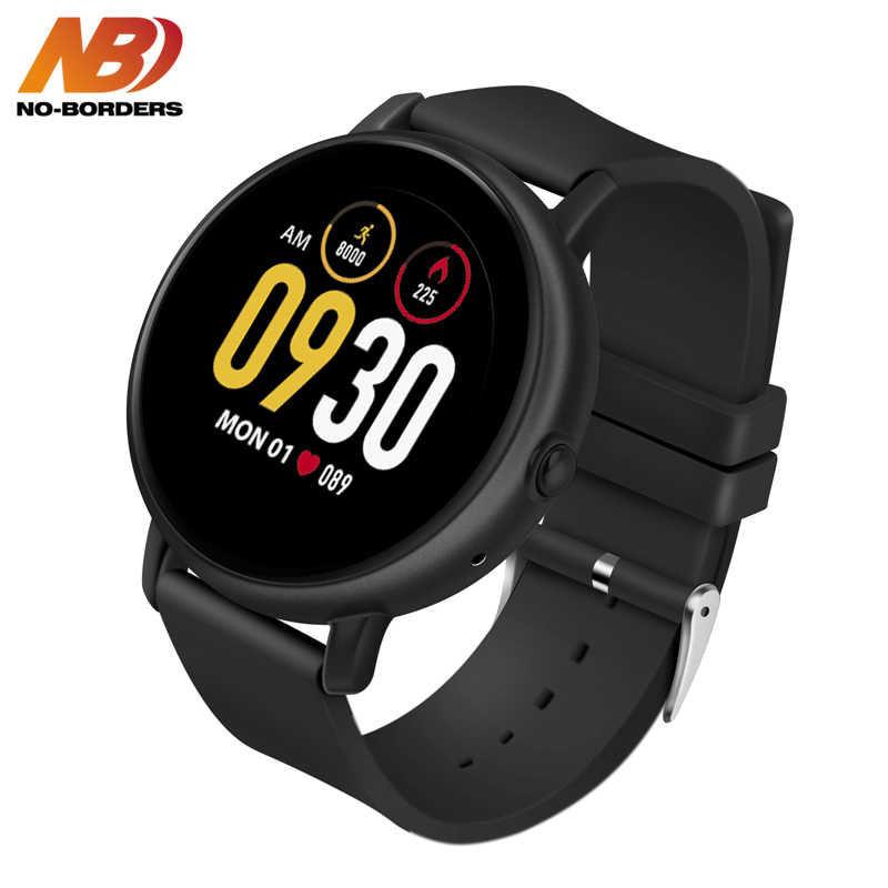NO-BORDERS S666 Smart Bracelet IP67 Waterproof Heart Rate Sleep Exercise Data Monitoring Bluetooth Call Smart Watch Touch Screen