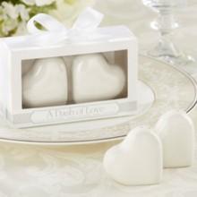 "(200pcs=100boxes/Lot)FREE SHIPPING+Wedding Favors ""A Dash of Love"" Ceramic Heart Salt&Pepper Shakers Bridal Favor Seasoning Pot"