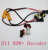2Pcs Lot Super White H8 H11 CREE LED Fog Light Driving Bulbs Canbus Decoders Error Free