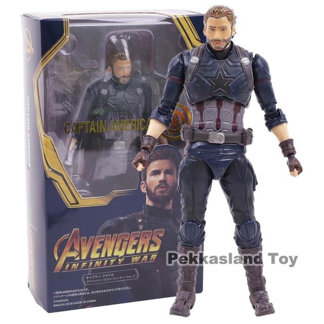 Infinito Guerra Avengers Capitão América PVC Action Figure Collectible Modelo Toy