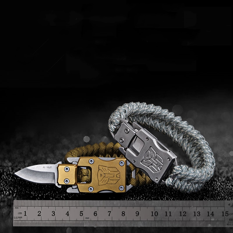 Drop Shipping EDC Outdoor Survival Paracord Bracelet Knife Hand Rope Multi Function Lifesaving Self-defense Bracelet Customized 4 pcs cowhide rope hand bracelet