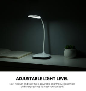Reading Light Lamps Touch-Switch Rechargeable Desk Adjustable USB 3-Modes Intensity