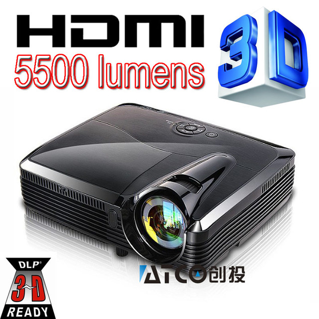Short Throw 5500 Lumen Video 3D Digital Full HD DLP Projector 1080P For DEFI interactive Floor system make much large projection