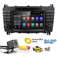 2 грамма Android8.1 2DIN CarDVD gps для Mercedes/Benz W203 W209 W219 класс A160 C Class C180 C200 CLK200 Радио стерео 4G WI FI DTV