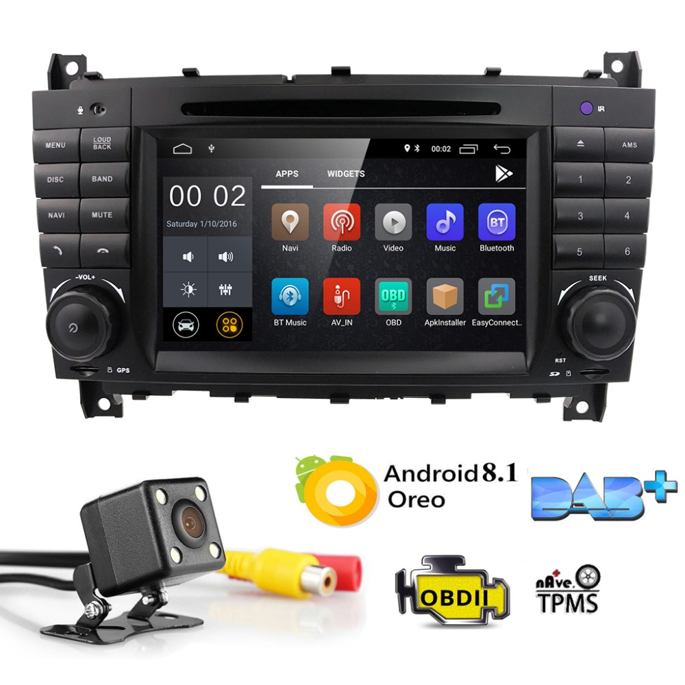 2GRAM Android8.1 2DIN CarDVD GPS For Mercedes/Benz W203 W209 W219 A-Class A160 C-Class C180 C200 CLK200 radio stereo 4G WIFI DTV2GRAM Android8.1 2DIN CarDVD GPS For Mercedes/Benz W203 W209 W219 A-Class A160 C-Class C180 C200 CLK200 radio stereo 4G WIFI DTV