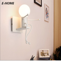 European Style Creative Personality LED Bedside Lamp Modern Simple Bedroom Aisle Stairs Corridor Children Wall Lamp