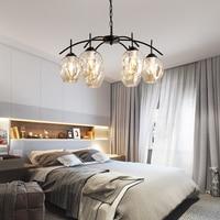 LOFT Modern Gold Lustre chandeliers 2 8 Arms Retro Adjustable Bulb Lamp E27 Art Spider Ceiling luminaire Fixture