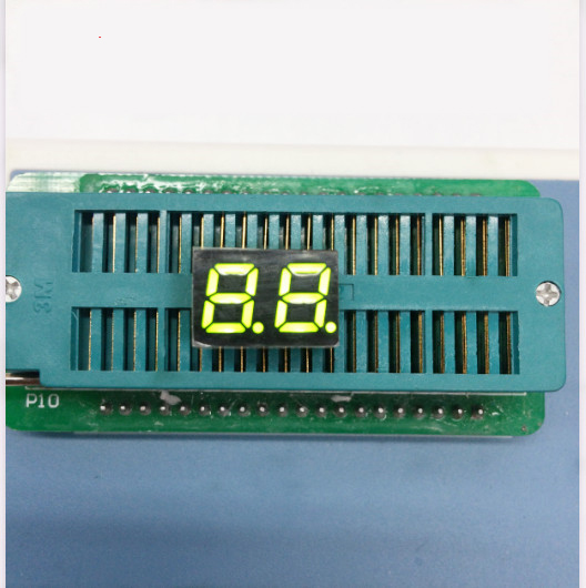 100pc Common Cathode/Common Anode 0.28 Inch Digital Tube 2 Bit Digital Tube 0.28 Inches Best Digital Tube Yellow-Green