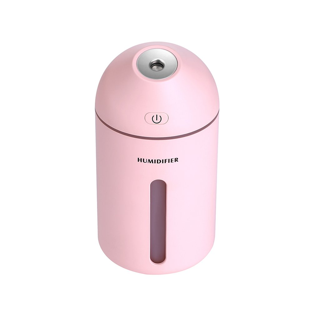 Color White Blue Pink 320 ML Ultrasonic Humidifier 10 to 20 Hours Humidification USB Humidfiiers Warm Light Car Air Humidifier