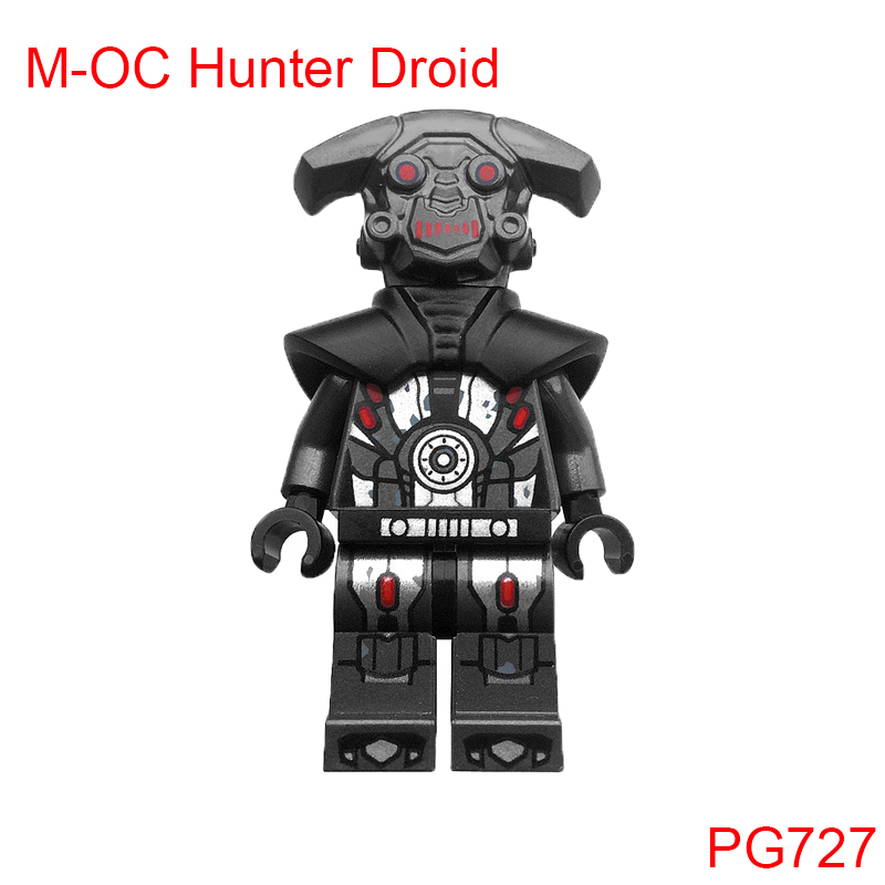 M-Oc Hunter Droid With Red-Bladed Lightsaber Building Blocks Pg727 Star Wars The Clone Wars 75185 Tracker I Brick Toys For Kids