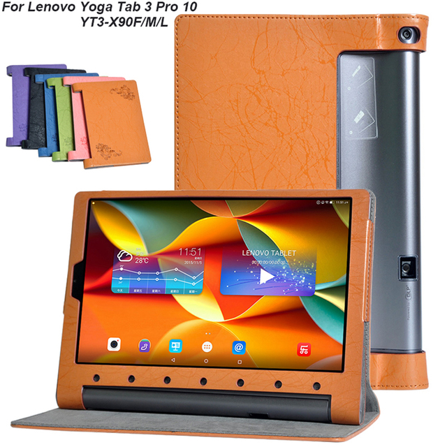 New Leather Flip Case Cover For Lenovo Yoga Tab 3 Pro 10 X90F X90M X90L YT3-X90F YT3-X90M YT3-X90L Tablet Magnet Stand Cover