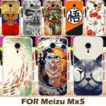 Akabeila жесткий Пластик чехол для Meizu MX5 4 г LTE 5.5 дюймов MX 5 крышки мобильного телефона защитный В виде ракушки живопись дизайн кожи