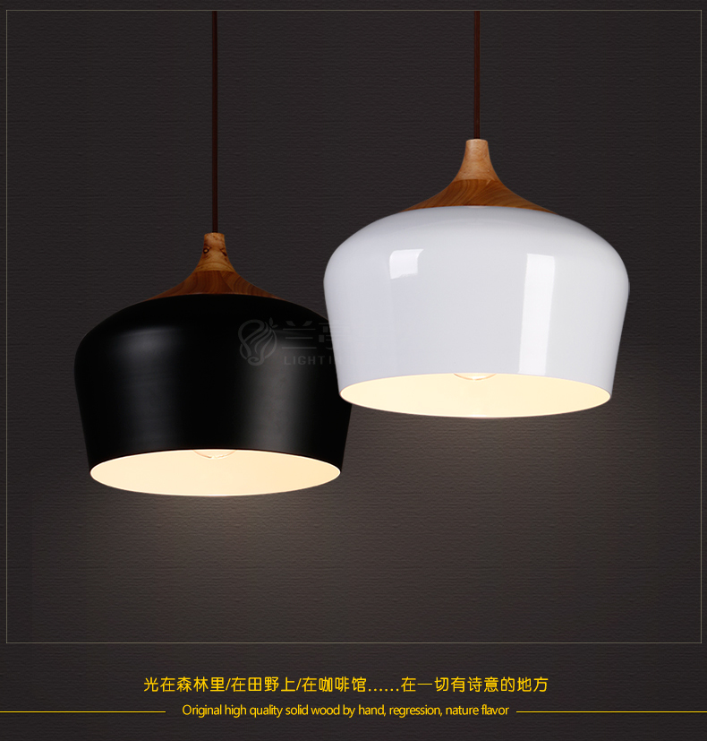 Nothern Europe Black/White Color Pendant Lamp Wood Japanese Style  Restaurant Light Bedroom Light Free Shipping nothern europe black white color pendant lamp wood japanese style restaurant light bedroom light free shipping