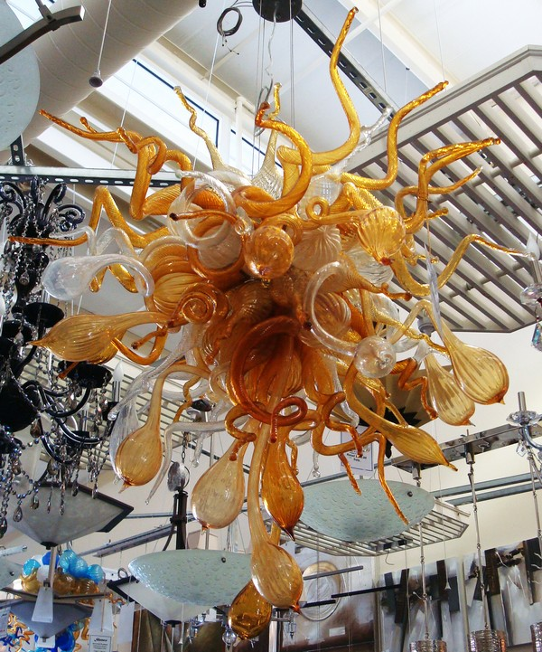 Classic Murano Chandeliers For Luxury Hotel In Florence: Home Decoration Chihuly Style Handmade Blown Glass Luxury