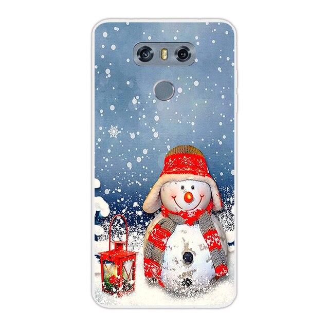 Coque pour LG G6 Coque transparente silicone couverture de jour de noël pour LG G 6 H870DS H870 5.7