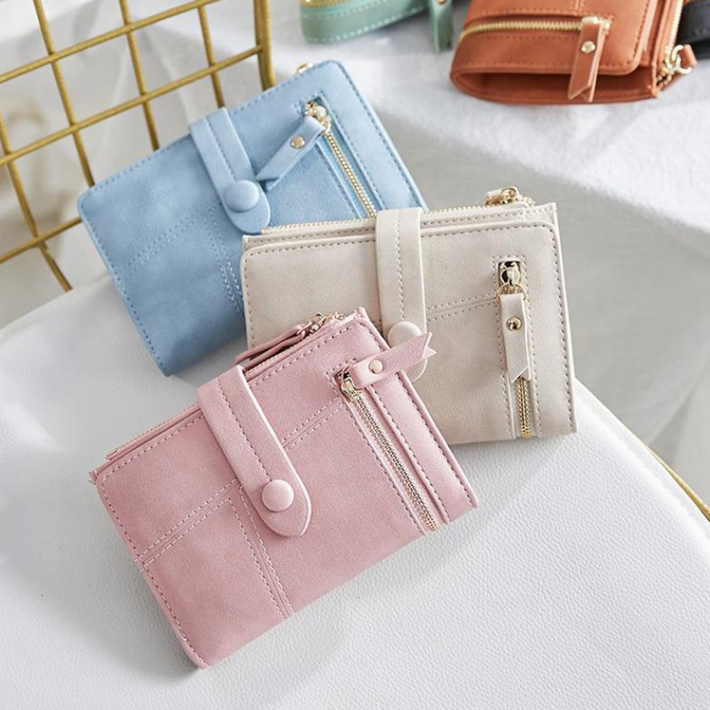 Women Short Wallets Mini Money Purses Small Fold Female Coin Purse Card Holder monederos para mujer womens wallet clutch retro