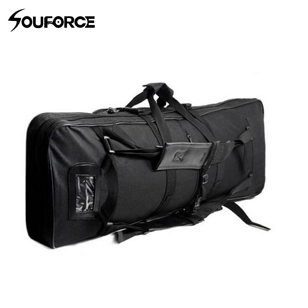 120cm Outdoor Military Hunting Backpack Tactical Air gun Rifle Square Carry Bag Gun Case цены онлайн