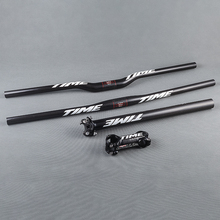 Полный 3 К Углеродного Волокна MTB велосипед руль НАБОР горный велосипед руль или стволовых или подседельный велосипедных частей set free доставка