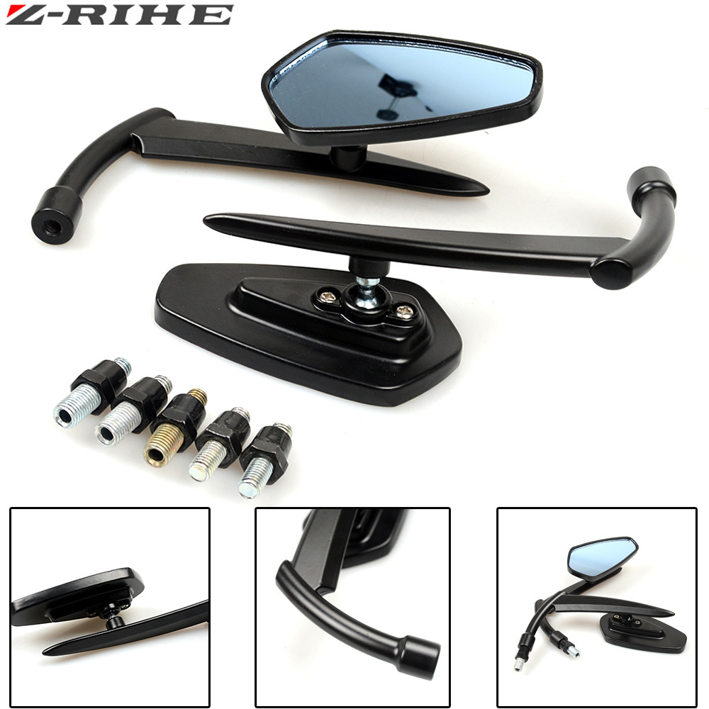 Motorcycle Rear View Mirrors Universal Handlebar Side Rearview Mirror For honda HORNET 250 600 900 Big Sheep FJS400 FJS600|Side Mirrors & Accessories| |  - title=