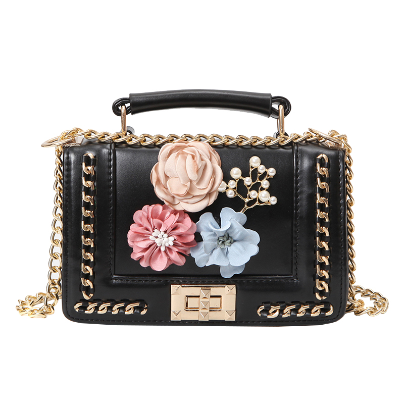2017 Luxury Designer 3d Flower Peral Purses Crossbody Bags Ladies Tote Boston Bags Women Famous ...