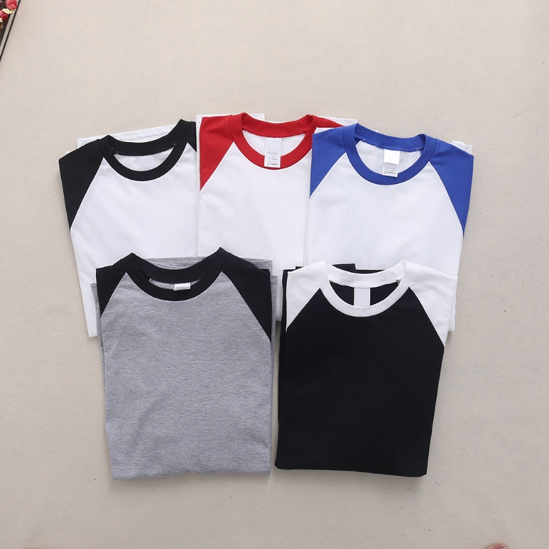Composite Bats Men 3/4 Sleeve Plain T-Shirt Baseball Raglan Jersey Fashion Casual Tee