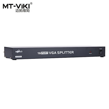 MT-VIKI 16 Port VGA Splitter 350MHz 1 Input to 16 Output Multiple Video Distributor for Widescreen Monitor LCD Projector 35016