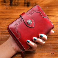 Flowers Pattern Women Genuine Leather Wallets Fashion Long Purse Wallet Cowhide Clutch Bag 2014 New Wallets