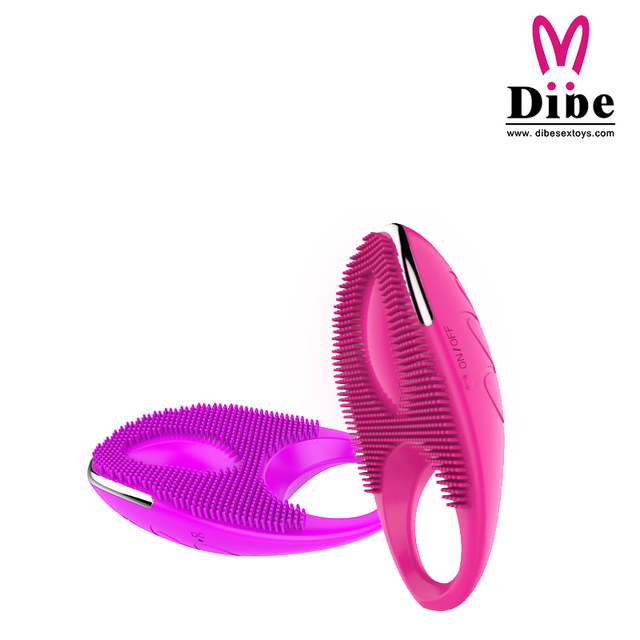 DIBE Penis Rings Cock Ring Silicone Vibrating Sex Toys For Men Ring Penis Lock Penis Massage Male Bondage ELDJ227
