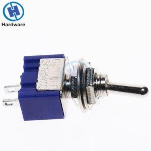 Image 5 - Mini interrupteur à bascule 10 pièces, MTS 101, 2 broches, SPST, 6A 250V AC