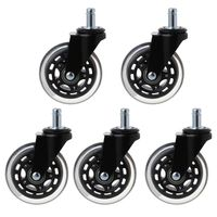 5Pcs 11x22mm Office Chair Wheels Wivel Rubber Caster Wheel Safe Rolling Caster Replacements For Home Furniture
