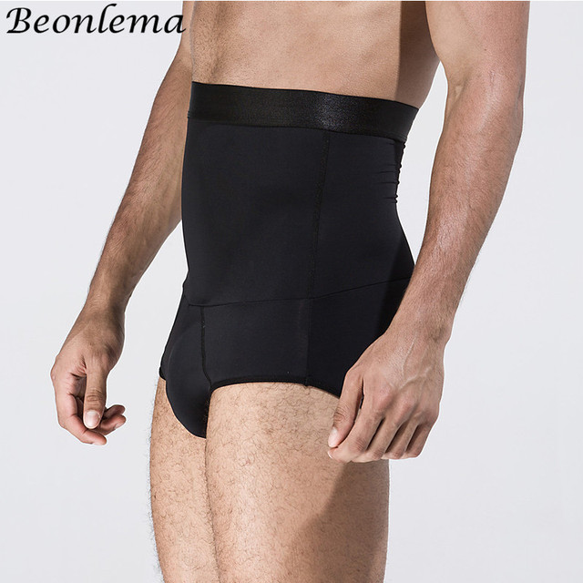 Beonlema Tummy Shaping Briefs Men Fitting Body Trimmer High Waist Slimming Bodyshaper Homme Double Layer Modeling Shaperwear 1