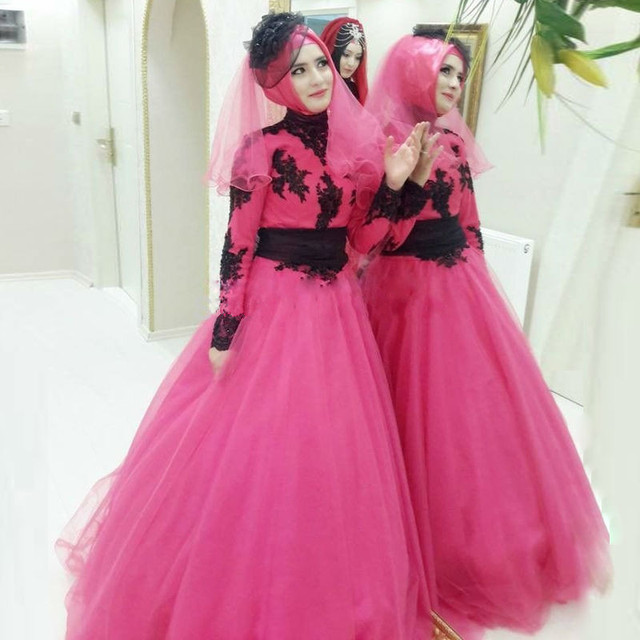 robe de soiree Long Sleeve Muslim hijab Evening Dresses dubai abaya in dubai  Arabic Chiffon Formal Evening Gowns prom Dresses b0f021fe57cd