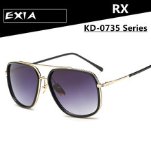 Optical Myopia Sunglasses Women Big Frame Design with Polarized RX Prescription Lenses EXIA OPTICAL KD-0735 Series