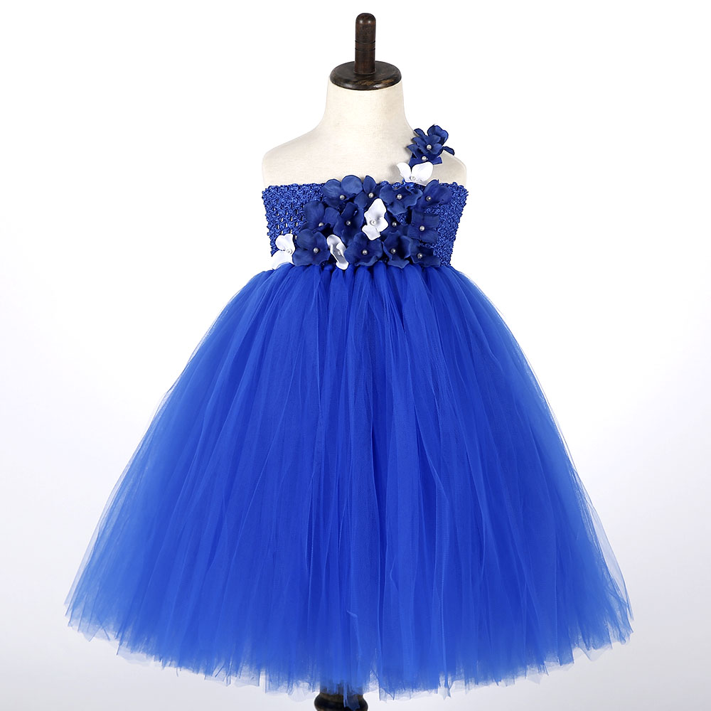 Bridesmaid dresses blue kids promotion shop for promotional navy blue flower girl tulle tutu dress ankle length kids wedding bridesmaid party tutu dresses for girls birthday photograph ombrellifo Choice Image