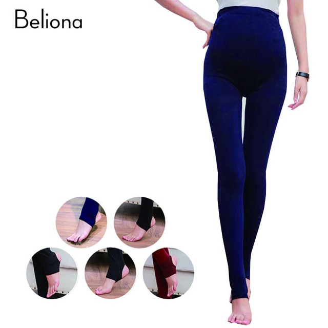 Autumn Maternity Leggings High-waisted Belly Care Pregnancy Legging Stretch Slim Maternity Clothes for Pregnant Women 5 Colors