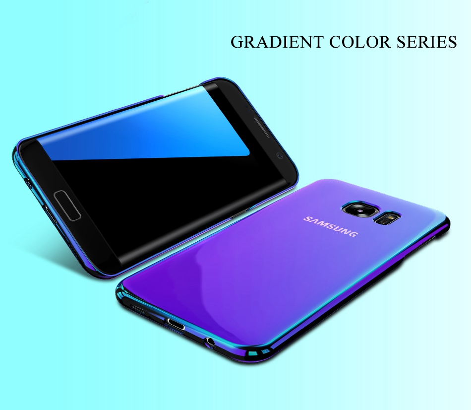 Blue Light Cover For Samsung S8 Case Galaxy S8 Plus Gradient Aurora Phone Cases For Samsung S8 S7 S6 Edge (2)
