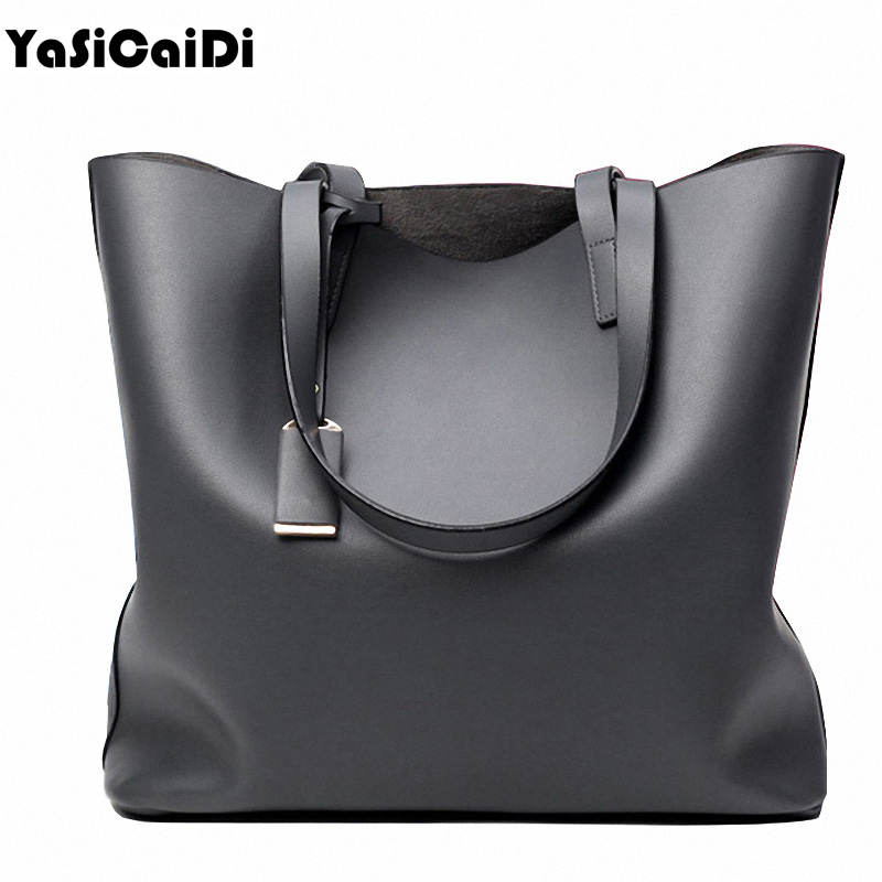 Famous Brand High PU Leather Women's Handbags Large Single Black Casual Shoulder