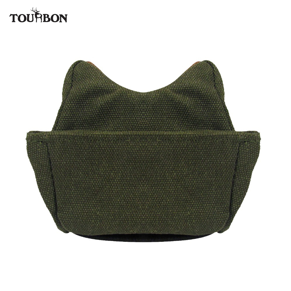 Tourbon Hunting Rear Gun Rest Bag Shooting Deadshot Rifle Target Rear Bags Bench Unfilled Canvas Pouch Gun Accessories