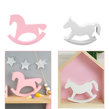 Wooden Rocking Horse Kids Toys Wedding Home Decoration Home
