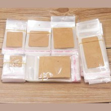 100PCS Storage Bags Transparent Self Adhesive Resealable Clear Poly Gift Packaging opp Bag jewelry card matching bags