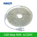 SMD 5050 220V Led Strip Flexible Light 1m-25m White/Warm White/Red/Green/Blue Outdoor Lighting With EU Plug