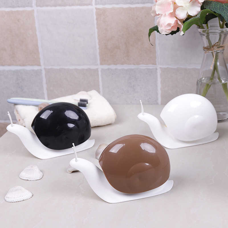 JPZYLFKZL Creative Cute Cartoon Snail Shaped Liquid Soap Dispenser Set Bathroom Storage Shelf Shampoo Soap Dispenser Practica
