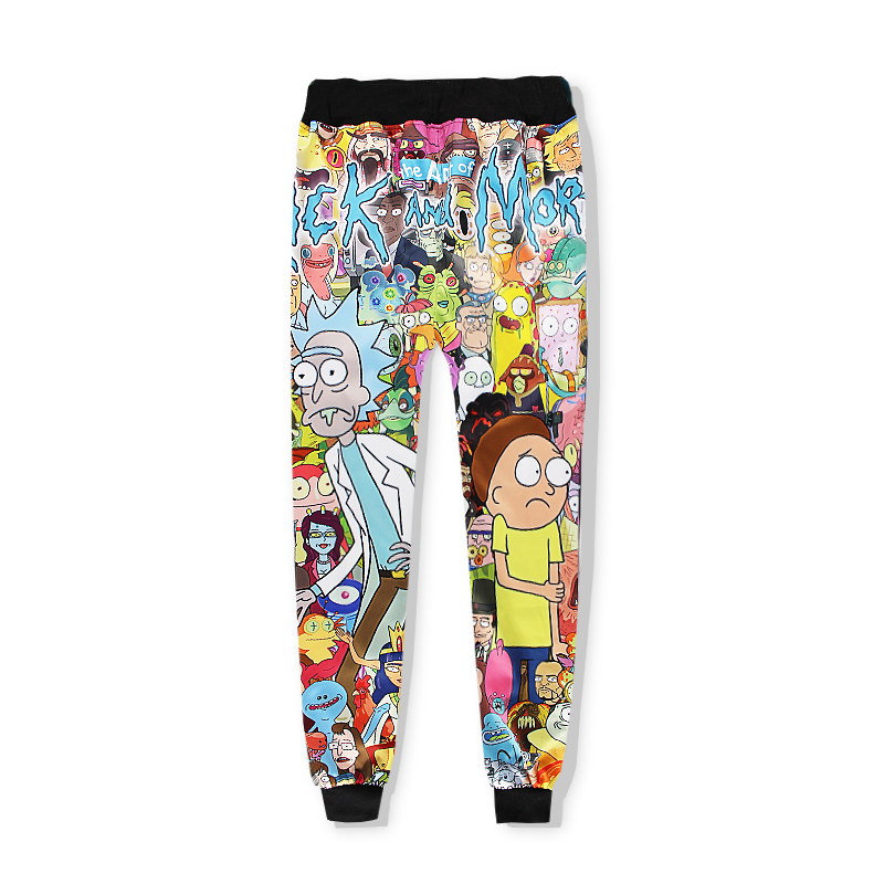 Rick and Morty Funny fashion sweats tracksuit men women winter casual clother 3d Sweatshirt&pants 2 pieces set size S-XXL