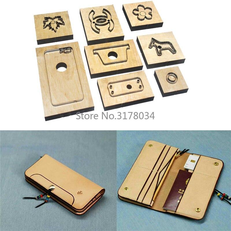 2019 japon règle de lame en acier découpé avec des matrices en acier poinçon portefeuille coupe moule en bois meurt pour coupeur de cuir pour l'artisanat en cuir A20